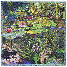 Pond for F Garcia Lorca - watercolor on paper painting by Joseph Raffael
