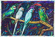 The Innocence of Birds - watercolor on paper painting by Joseph Raffael