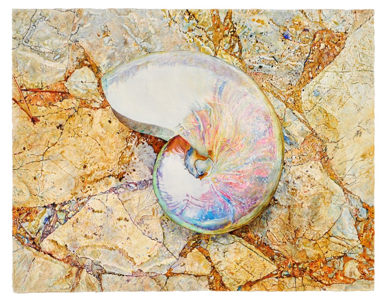 Wayfarer - watercolor on paper by Joseph Raffael