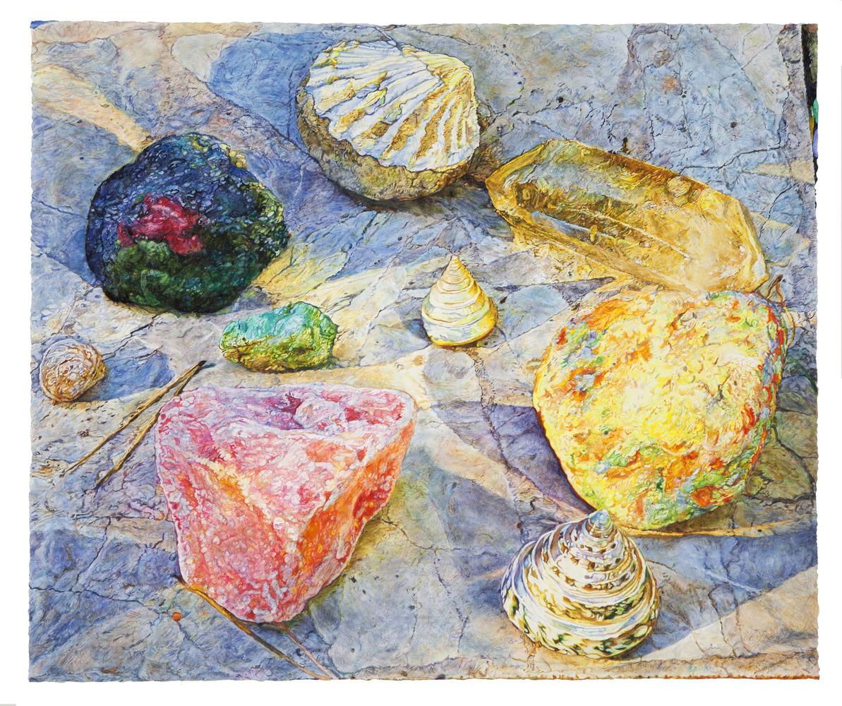 Repose - watercolor on paper by Joseph Raffael
