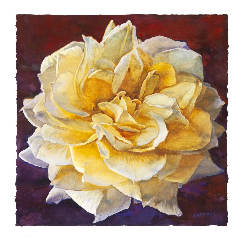 Elegy VI - watercolor on paper by Joseph Raffael