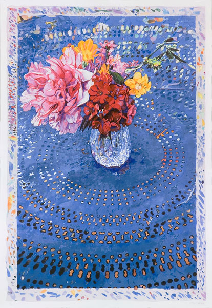 Mandala Bouquet II <br />                 lithograph <br />                 27 x 40 in. - 67,5 x 100 cm<br />                 2005<br />