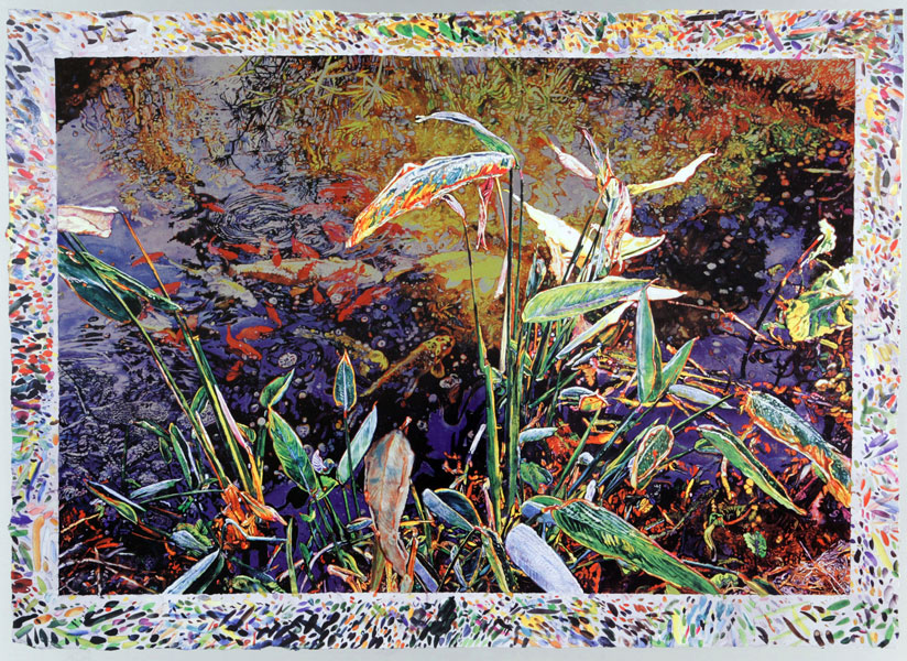 Spring Pond <br />                 screen print/lithograph on aluminum<br />                 33 x 23 in. - 82,5 x 57,5 cm<br />                 2003<br />